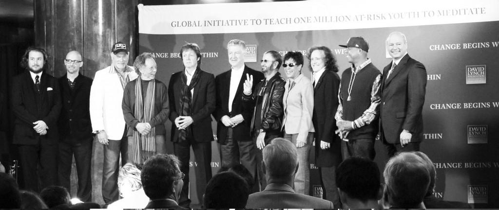 Ringo Starr, Paul McCartney, Donovan, and jazz musician Paul Horn recently held a benefit concert organized by the David Lynch Foundation in order to raise awareness of Transcendental Meditation. | Photo by David Herschner