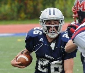 Matt Kelly '10 leads the Wreckers to Victory with three TDs. Photo courtesy of Staplesfootball.com (Dan Gelman)