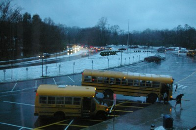 The wind howled and so did students when they learned school was on Dec. 9.