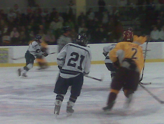 Despite defeat, the Wreckers fought hard throughout the game.   Photo by Emily Goldberg '12
