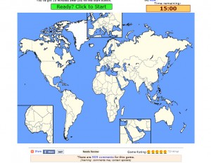 Click on the picture and test yourself on countries of the world
