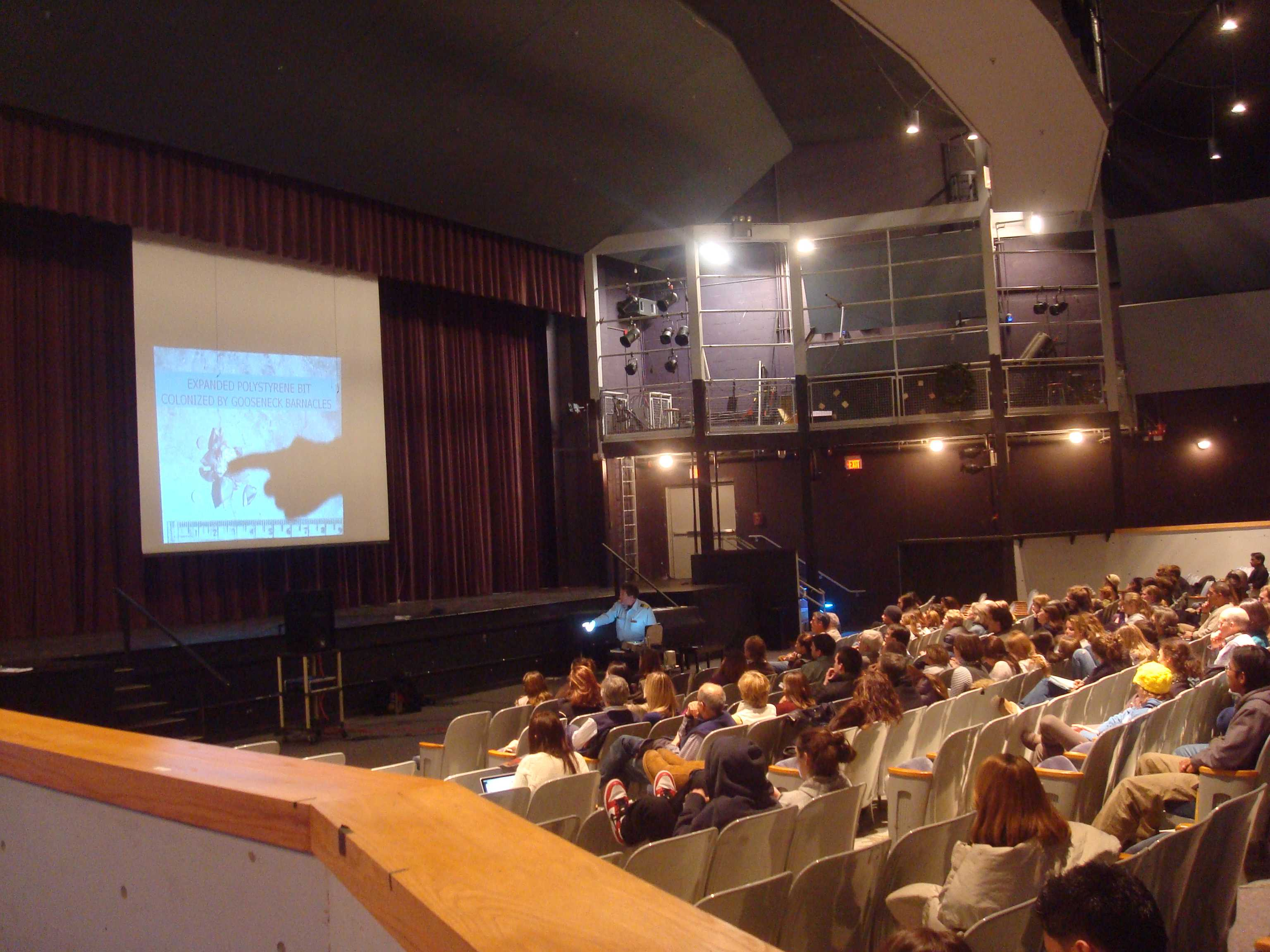 On Monday, Jan. 11, Captain Moore spoke at Staples High School about the Eastern Garbage Patch, a current environmental problem.