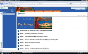 This screenshot of Rubel's AP Psycology class outlines what he will be learning online.