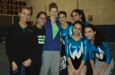 Staples Gymnasts Place Second in Tri-Meet