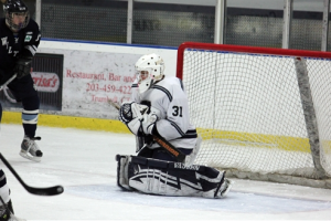Luke Andriuk '11 makes a save for the Wreckers.| Photo contributed by Anna Andriuk
