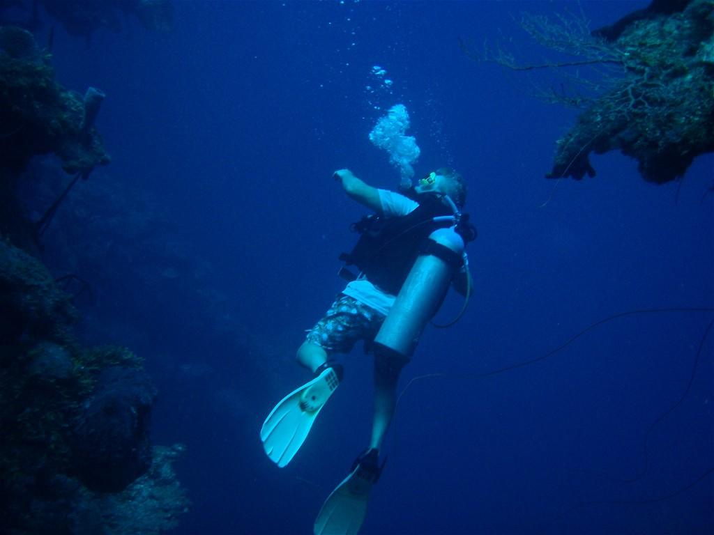 Some students don't stop after snorkling- they go all the way down. | Photo from Zach Slater '11