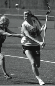 Maeve Flaherty '12 is the starting center on the girls' lacrosse team.