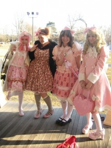 Rebecca Loeser '10 and friends celebrate the style of Lolita at a convention. | Photo by Rebecca Loesser '10