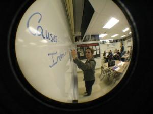 AP World teacher Carol Avery instructs her class.  | Photo by Madeline Hardy '11