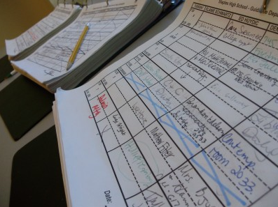 The appointment book for the guidance department is quickly filling up. | Photo by Sammie Hardy '11