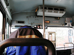 on the shuttle bus (day 32)