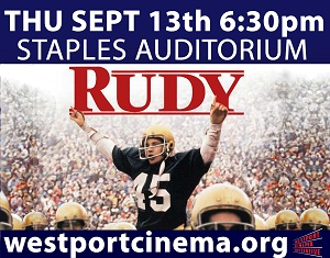 Westport Cinema Initiative Presents Rudy and Staples Football Alum in Anticipation of First Night Game