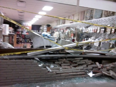 Car Drives into Post Road Storefront; No Injuries Reported