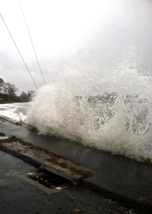 Oct. 29, 2012 | Sandy Makes Big Waves