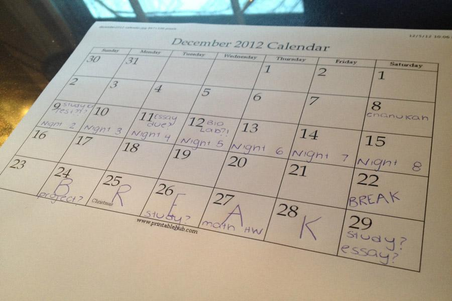 Although students look forward to holidays and breaks, many will still have homework to do over Hanukah and vacation.