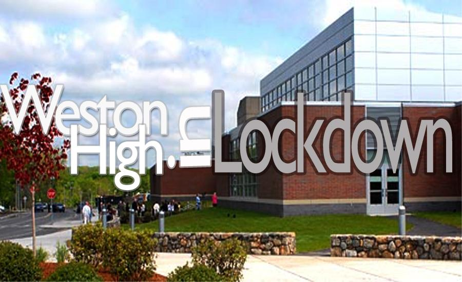 Weston+High+School+was+evacuated+Wed.+afternoon+due+to+a+threatening+note.+State+police+conducted+a+bomb+sweep+in+and+around+the+building.
