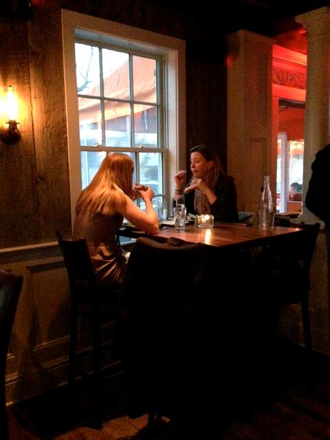 Diners enjoy a meal at Spotted Horse in Westport during Restaurant Week