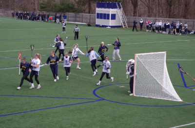 Staples Girls Varsity Lacrosse Team Plays Weston in First Scrimmage of the Season