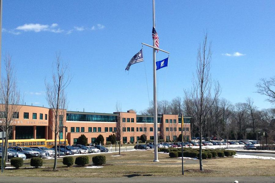 Flags at half mast marked the death of Roger Muchnick  '08.