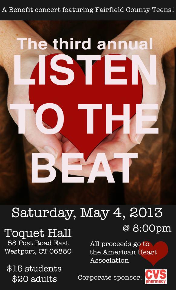 Third Annual Listen to the Beat Concert: Musical Beats to Help Heart Beats