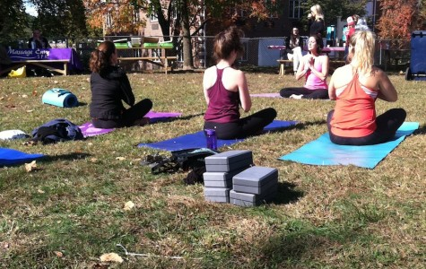 Yoga on the Green supports breast cancer patients