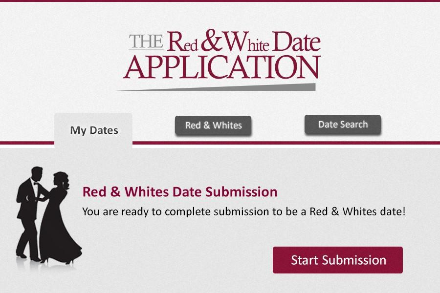 Applying as a date for Red and Whites