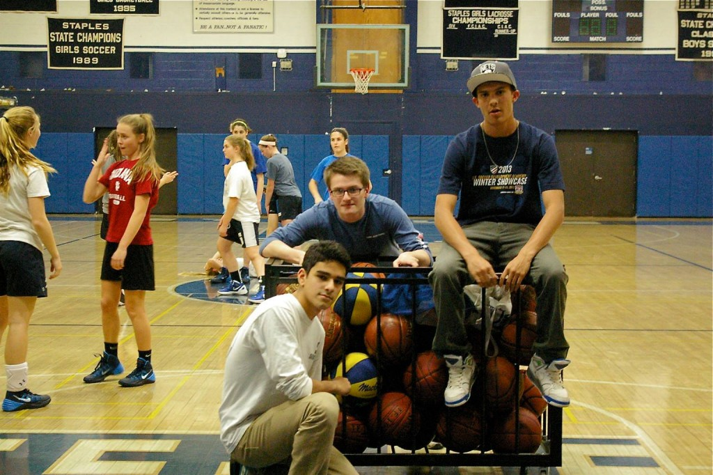 Three Male Managers of Girls' Basketball