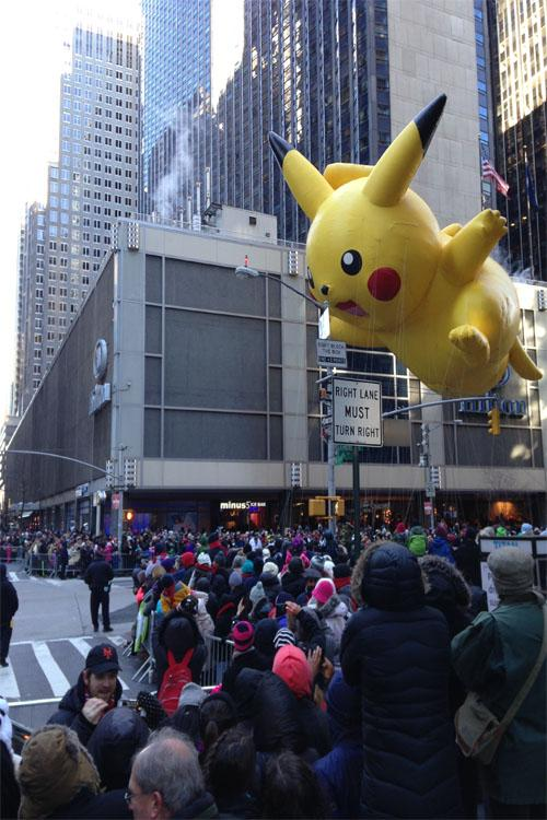 Floating at the Macys Thanksgiving Day Parade
