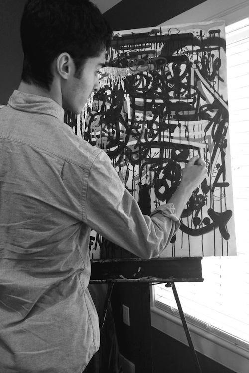 Ian+Barsanti+%2714+works+on+an+art+project.