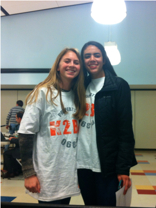 Rachel Morrison '16 and Jojo Adler '16 attended tonight's meeting to support their club. Jojo spoke to the Board of Ed expressing how important the club is to the high school students and the elementary children.
