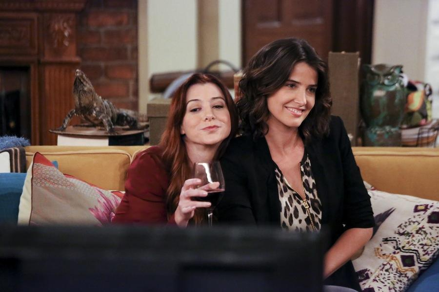 Alyson Hannigan and Cobie Smulders in a scene from