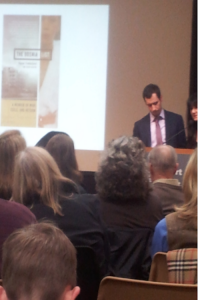 Kenan Trebincevic speaks about his memoir at the Westport Public Library