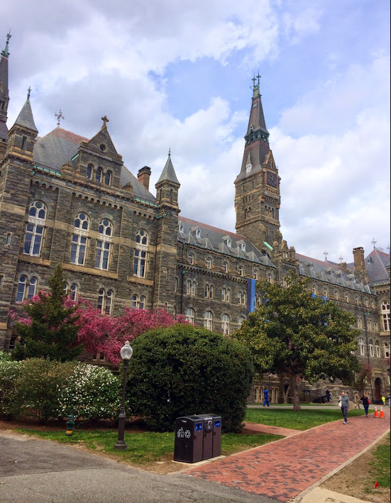 Instead of going to school this Monday, Sophia Hampton 15 visited Georgetown University in Washington DC.