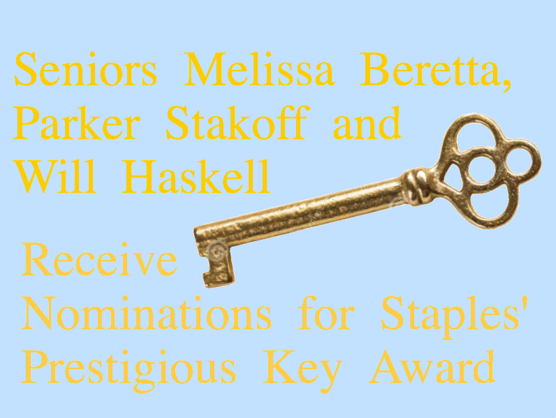Staples seniors honored with Key Award nominations