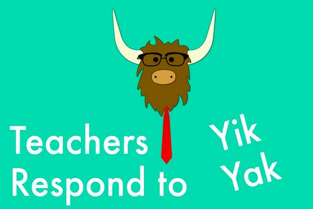 Teachers respond to Yik Yak