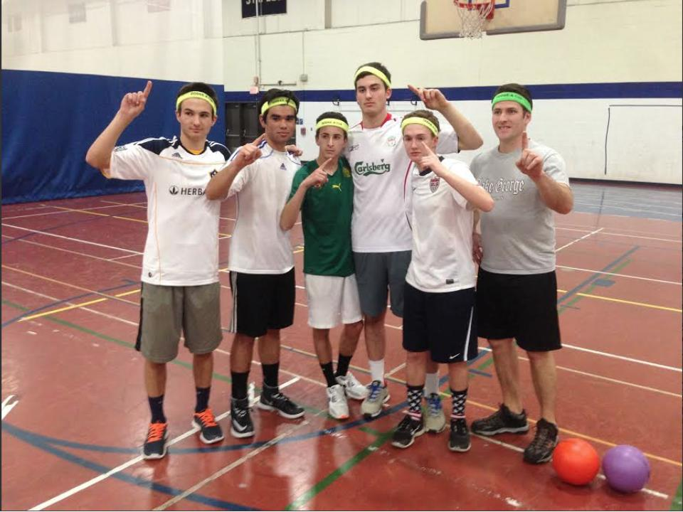 The winning team poses for a photo after their big victory.