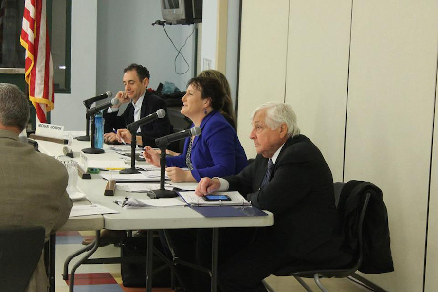 At+the+BOE+meeting%2C+%28from+left+to+right%29+BOE+member+Michael+Gordon%2C+BOE+Chair+Elaine+Whitney+and+Superintendent+Elliott+Landon+discussed+health+care.