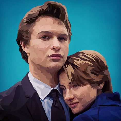 Augustus Waters (Left) and Hazel Grace Lancaster (Right)
