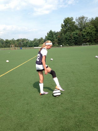 Olivia Ronca '18 during her soccer practice