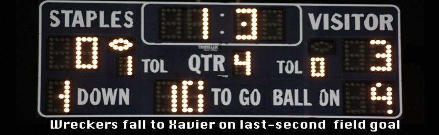 Xavier managed to kick a field goal with 1.3 seconds left in the game, leaving the Wreckers no time to mount a comeback