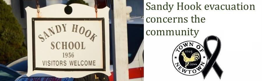 Sandy Hook evacuation concerns the community