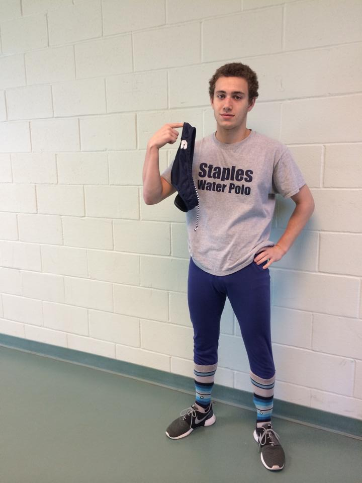 Max Wimer '15 listened to Vice Principal James Farnen's request and took off his Speedo mid-day yesterday.