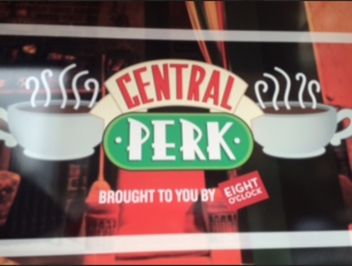 Outside of the Central Perk coffee shop.