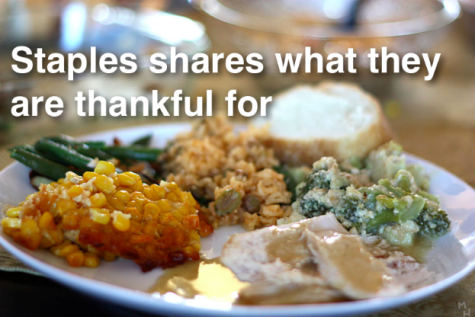 Staples shares what they are thankful for