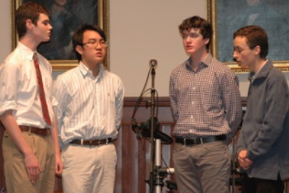 Keanan Pucci'16, Steven Xu'16, James O'Brien '17, Wellington Baumann'16