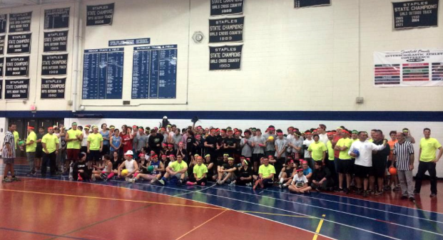 Students and police play together in Dodge-A-Cop