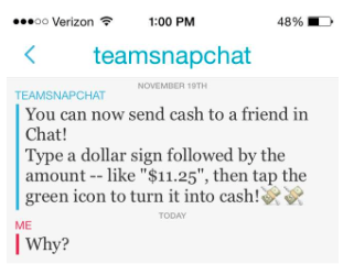 Snapcash is straight-up stupid