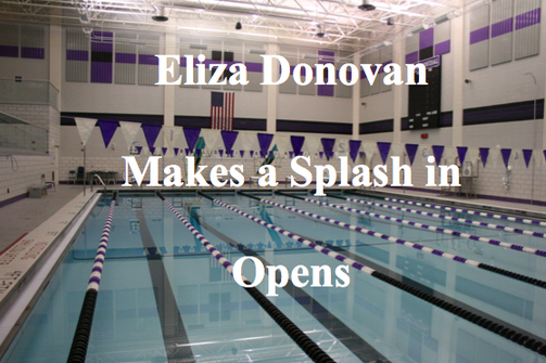 Eliza Donovan makes a splash in opens
