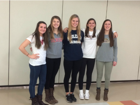 Unconventional press conference held for girls' lacrosse commits