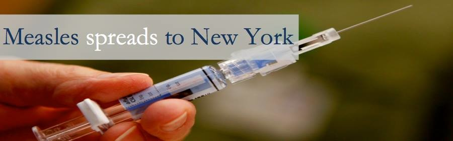 Measles spreads to New York